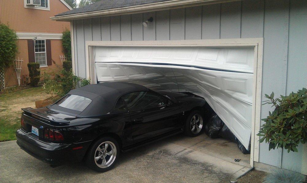 garage door broken